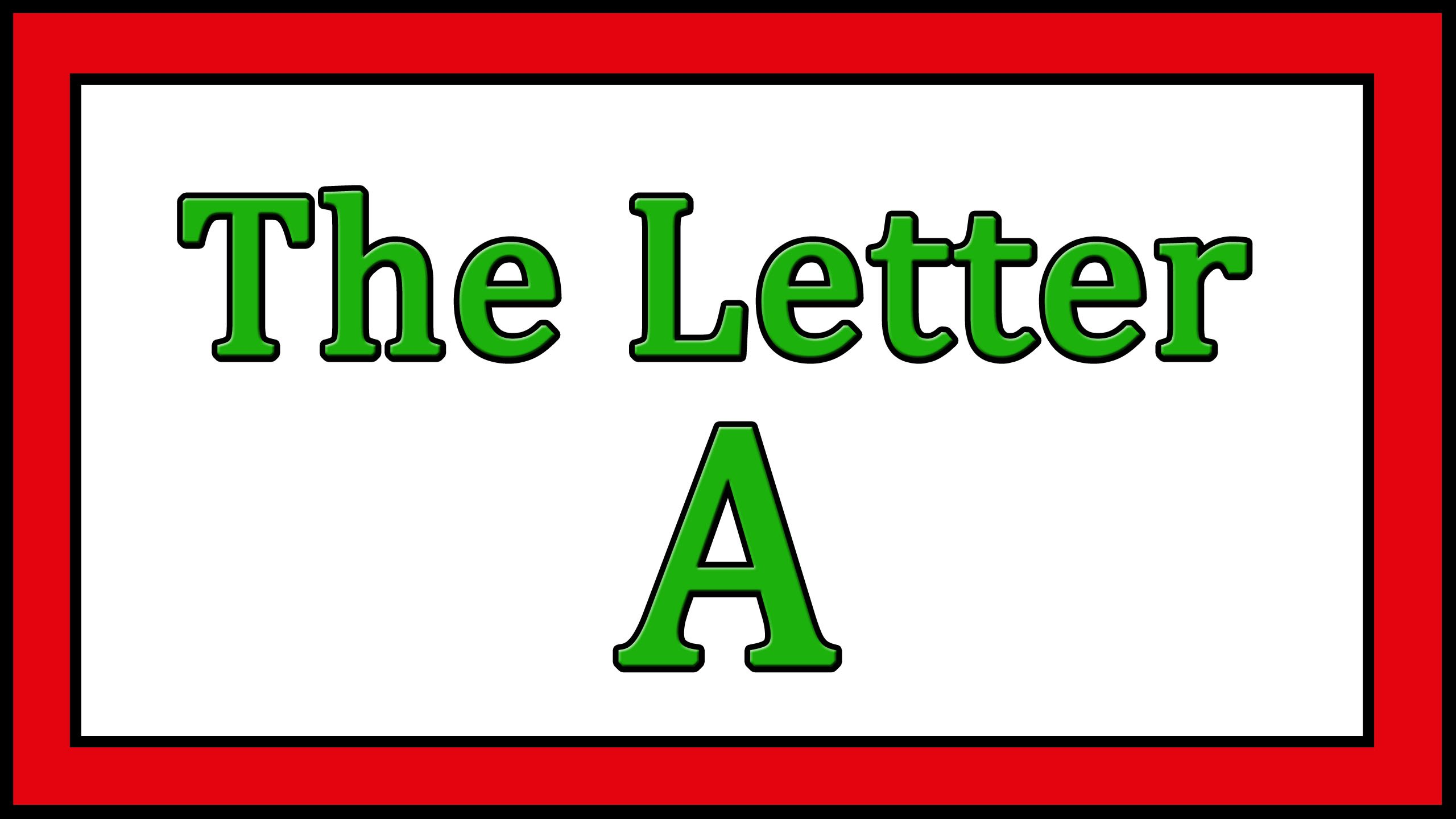 The Letter A Songs - ABC Songs - Toddler Baby Preschool - Learn the ...