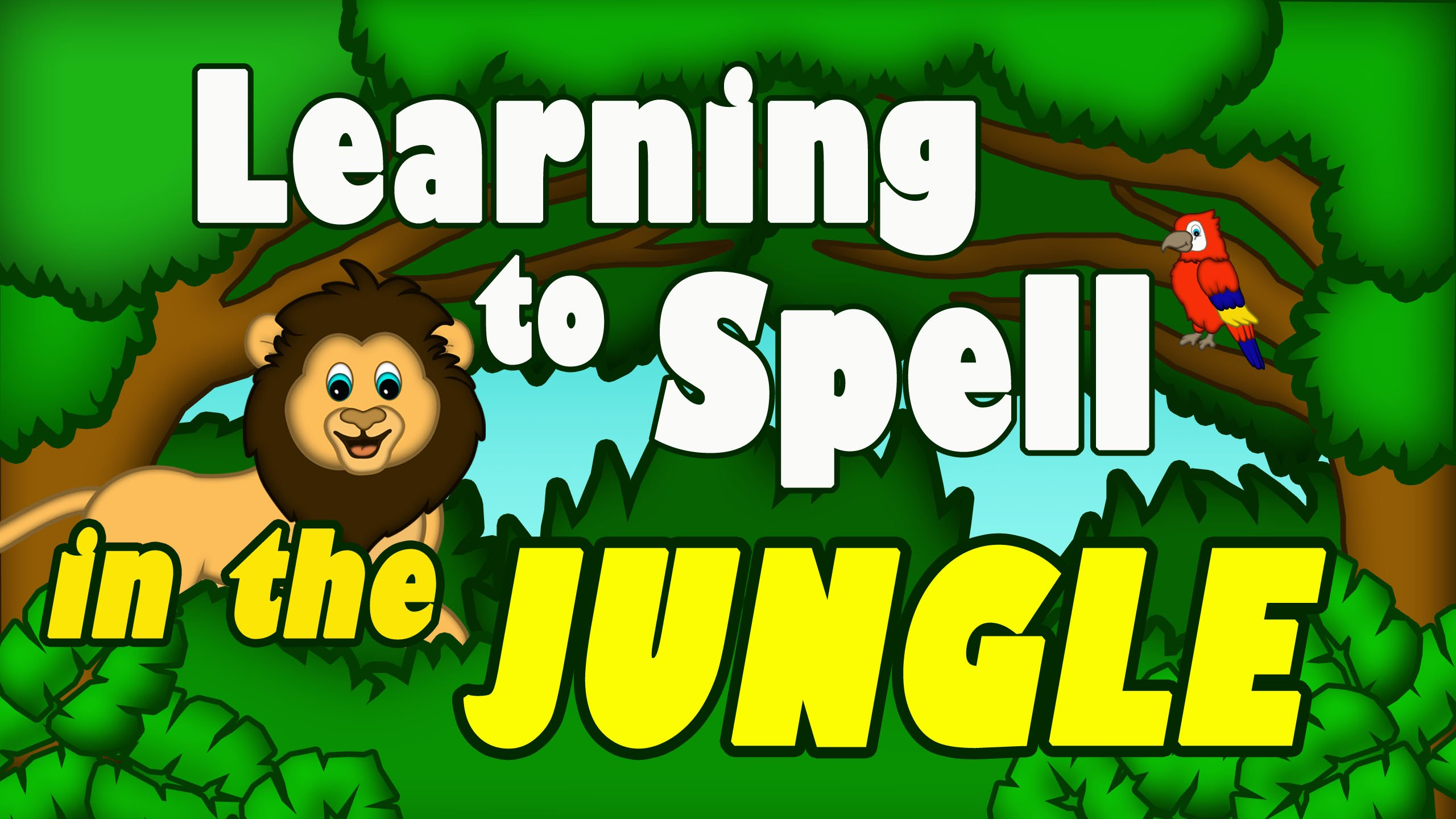Learning to Spell in the Jungle - ABC Songs for Kids - Alphabet ...