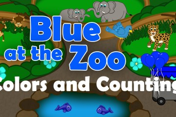 Blue at the Zoo Colors and Counting to 5