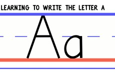 Write the Letter A