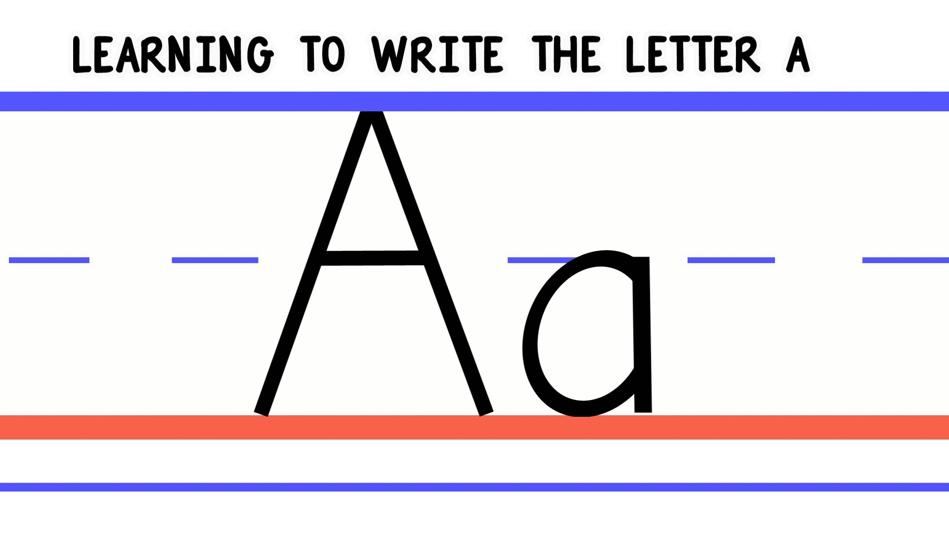 Write the Letter A   ABC Writing for Kids   Alphabet Handwriting