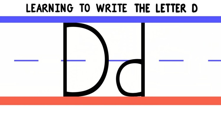 Write the Letter D