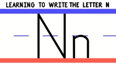 Write the Letter N