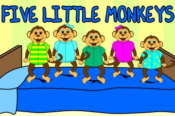 5 LITTLE MONKEYS (JUMPING ON THE BED)