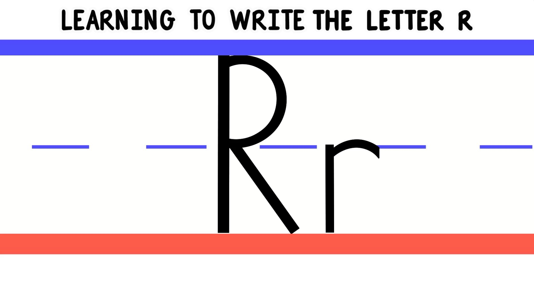 Write The Letter R Abc Writing For Kids Alphabet Handwriting By