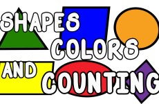 SHAPES COLORS AND COUNTING