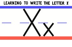 Write the Letter X