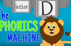 THE LETTER D Phonics Machine