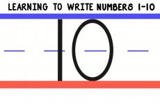 Learning to Write Numbers 1-10