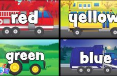 Colors with Trucks for Kids - Educational Color Videos for Toddlers