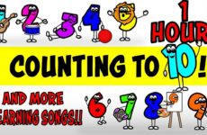 Counting 1 to 10 - PLUS 1 Hour of Kids Compilation Songs - Fun Kids Educational Videos