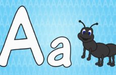 Letter A Song for Kids - Words that Start with A - Animals that Start with A
