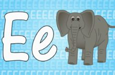 Letter E Song for Kids - Words that Start with E - Animals that Start with E