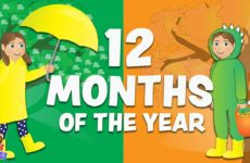 12 Months of the Year Song for Children - Fun Calendar Songs for Kids